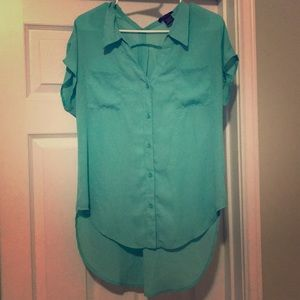 Tops - mint green blouse